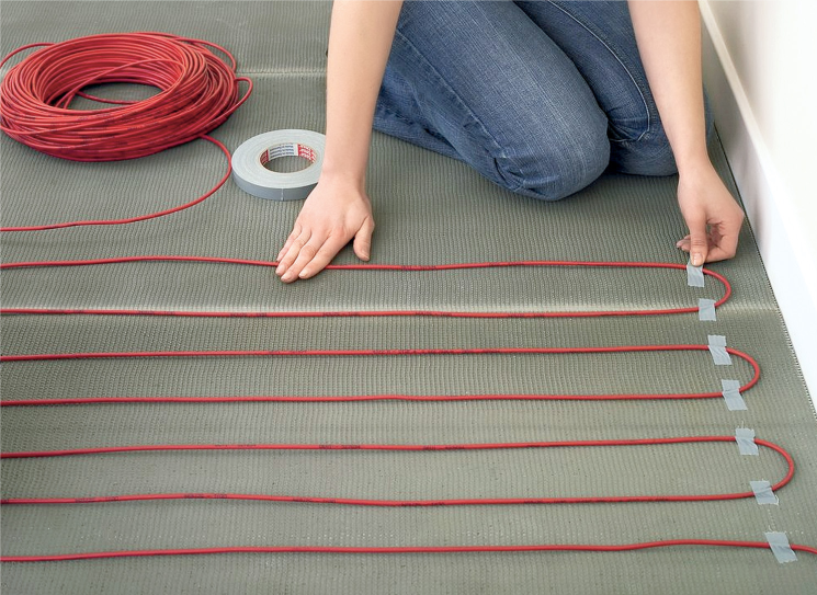 Теплый пол на основе нагревательного кабеля