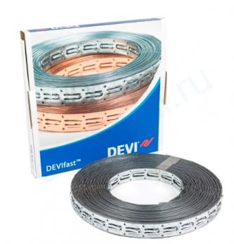 Монтажная лента DEVIfast 25 м оцинкованная для крепления кабеля