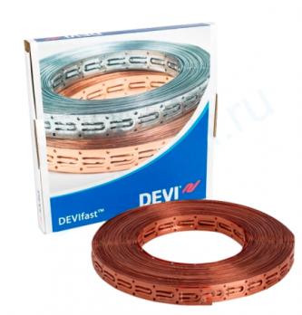 Монтажная лента DEVIfast 25 м медная для крепления кабеля